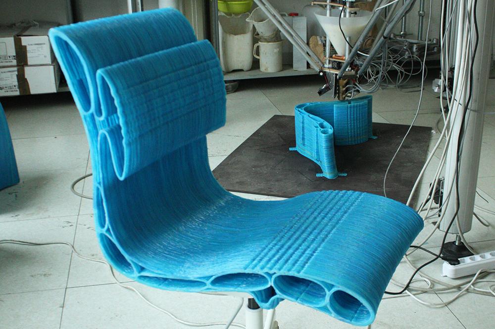 Seduta stampata in 3d con Delta WASP 3MT