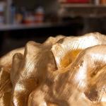 scultura stampata in 3d - superficie oro_02