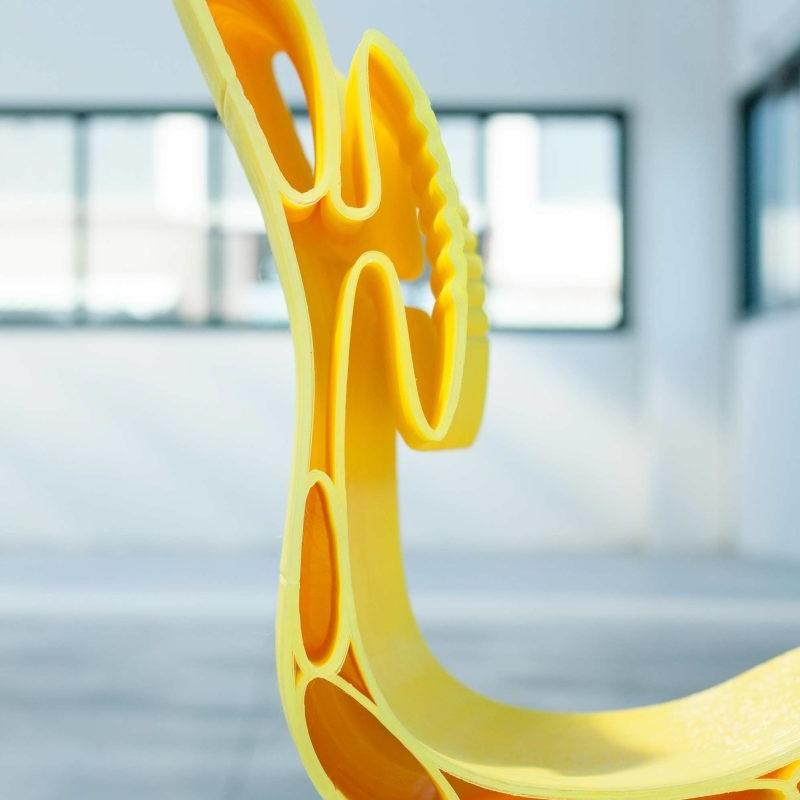 Rigatona - sedia stampata in 3d con Delta WASP 3MT - dettaglio