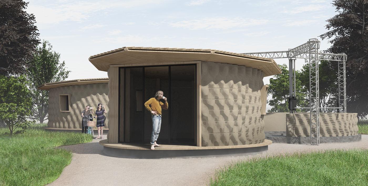 3d printed house, render