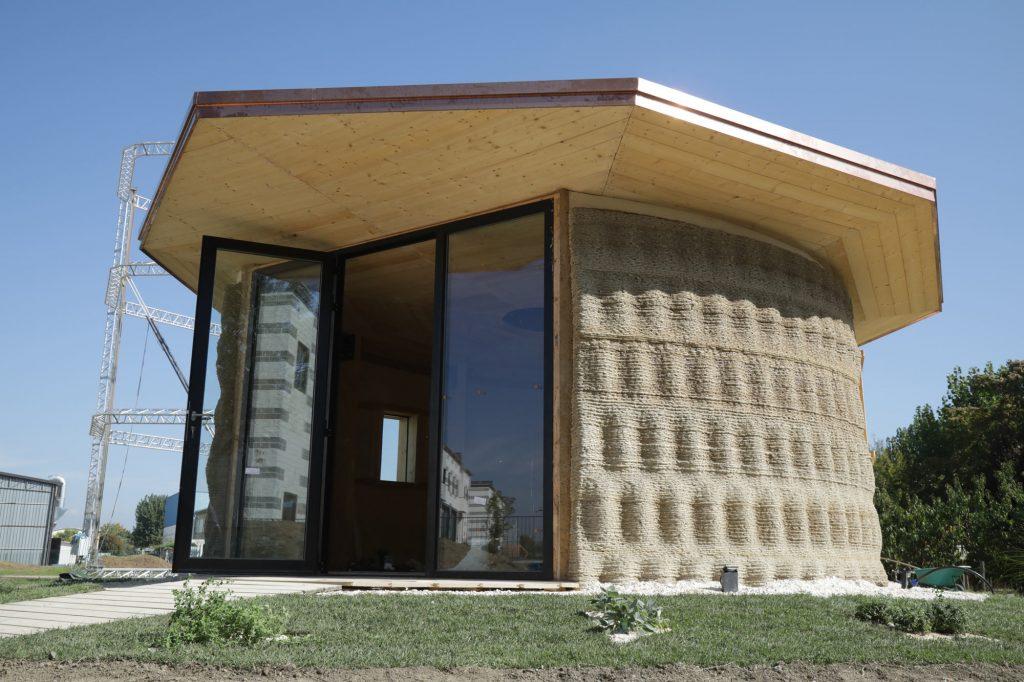Casa stampata in 3d, fronte