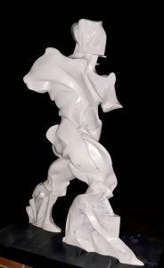 Scultura d Boccioni ricostruita con la tecnologia di Stampa 3d dalla D-Shape di Enrico Dini