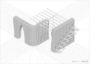 muro stampato in 3d, disegno