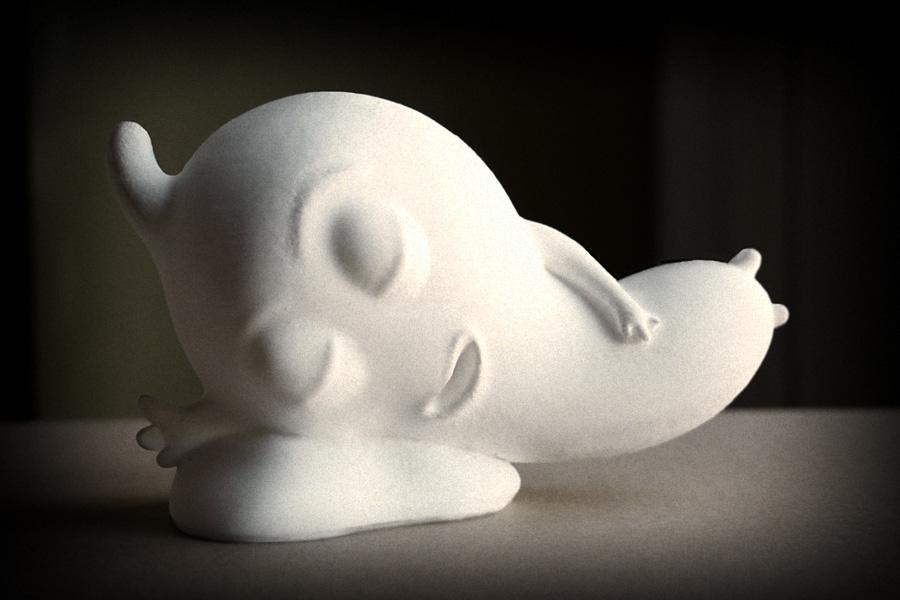 "Sleepy (in materiale PLA) appena ""partorito"" dalla Delta Wasp 4070"