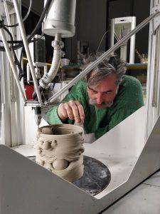 vaso stampato in 3d, processo