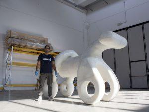 scultura stampata in 3D di 4 metri