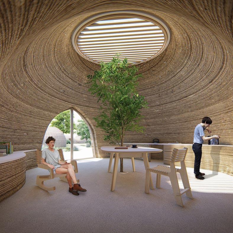 Casa stampata in 3D - TECLA - interno giorno