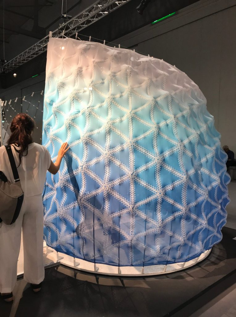 3D printed on textile pavillion