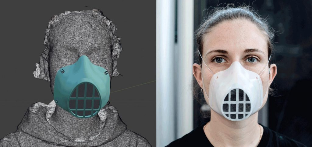 3d printed mask - open-source process