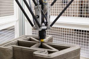dettaglio estrusione cemento - Delta WASP 3MT CONCRETE