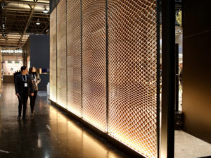 allestimento stampato in 3d WASP hub Macerata - parete esterna