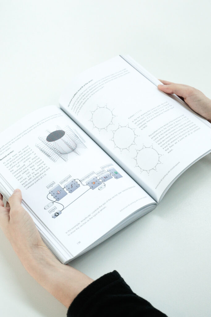 Pages of the book for 3d printing with grasshopper
