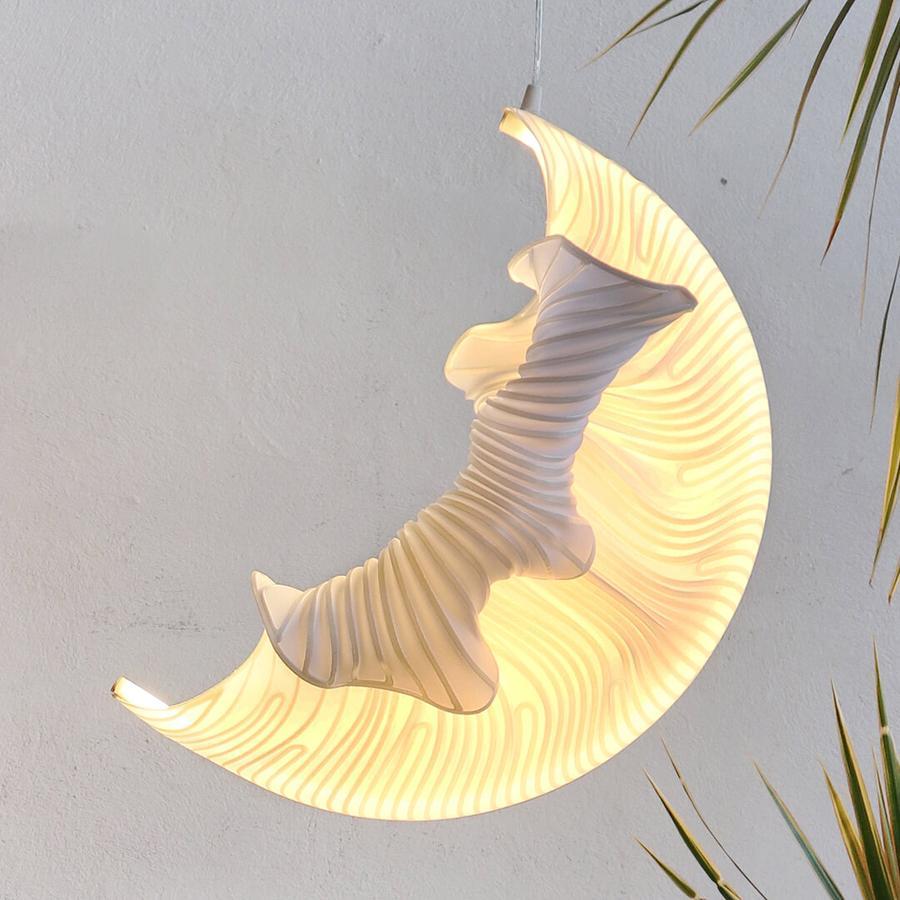 cocoon 3d printed lamp