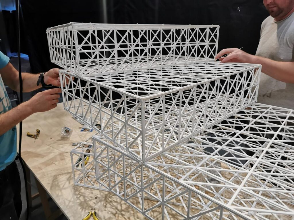 assembling 3d printed stairs installation